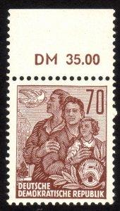 1962, Germany DDR, 70pfg, MNH, Sc 338