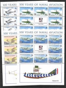 TRISTAN DA CUNHA SG939/42 2009 NAVAL AVIATION SHEETLET MNH