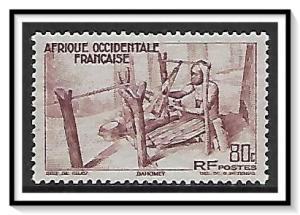 French West Africa #41 Kouande Weaving MH