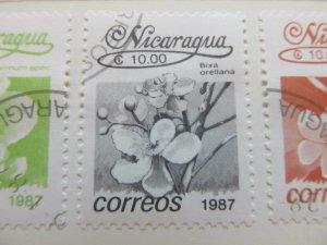 Nicaragua 1987 Flower 10cor fine used stamp A11P11F73