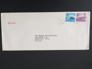 1968 Port of Spain Trinidad to Mansfield Ohio USA Sea Mail Business Cover