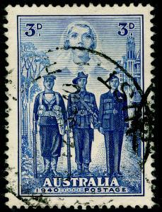 AUSTRALIA SG197, 3d blue, FINE USED. Cat £11.