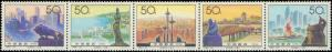 1994 People's Republic of China #2544, Complete Set, Strip of 5, Never Hinged