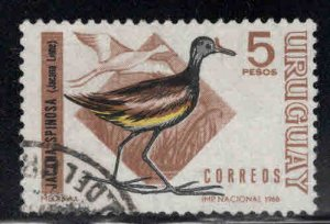 Uruguay Scott 755 Used bird stamp
