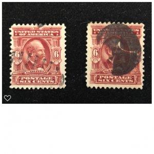 Scott Stamps #305 Six Cents (2)