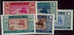 Mauritania SC#44-45, 48-49, 51 Mint F-VF...Bid a Bargain!