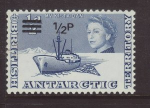 1971 Br Antarctic Terr ½p on ½d Unmounted Mint SG24