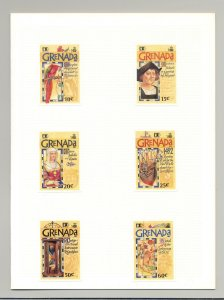 Grenada #2063-2070 Columbus, Ships 6v & 2v S/S Imperf Proofs in 3 Folders