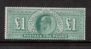 Great Britain #142 Mint Fine Full Original Gum Hinged - Some Creases On Back