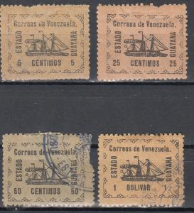 Venezuela, Sc # 1, 3-5, MH/CTO-H, 1903, Fault: tear on top of #1