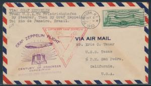 #C18 FIRST DAY COVER -- FLOWN -- OCT 2,1933 BU3651