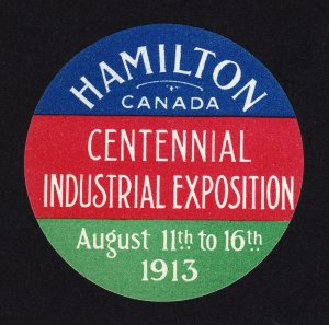 CANADA POSTER STAMP HAMILTON CENTENNIAL INDUSTRIAL EXPOSITION 1913 MNH-OG