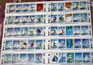 Solomon Islands - 570-74, Sheet of 50, MNH Set. America's Cup. SCV - $20.00
