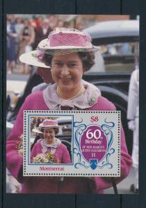 [15034] Montserrat 1986 Birthday Royalty Queen Elisabeth Souvenir Sheet MNH