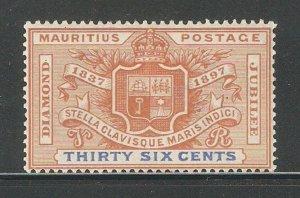 Mauritius 1898,Diamond Jubilee 36c,Scott # 112,VF-XF Mint Lightly Hinged*OG