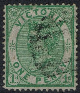 VICTORIA 1878 QV 1D ON DRAB EMERGENCY PAPER USED