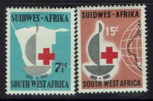 South West Africa SG# 193 & 194 - Mint Hinged (Hinge Rem) - 031217