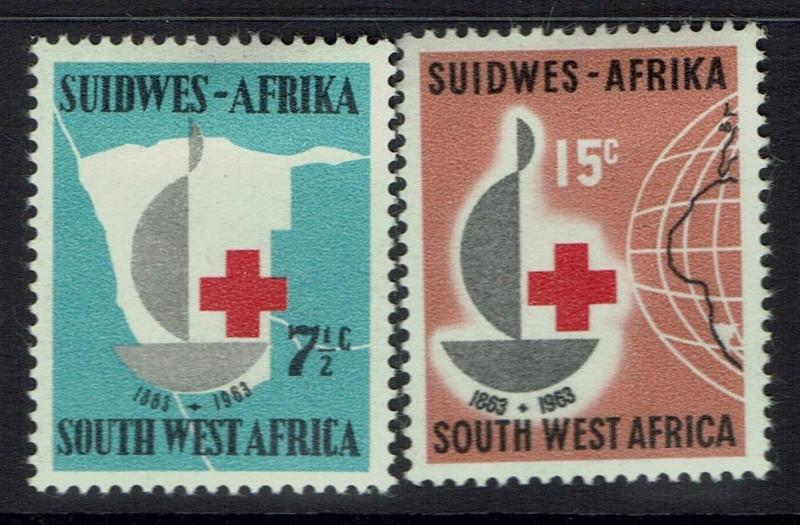 South West Africa SG# 193 & 194 - Mint Hinged (Hinge Rem) - 031217