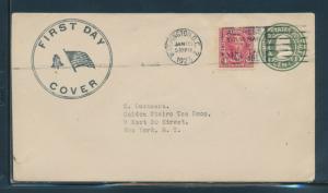 #561 SCARCE JAN 15,1923 FDC CACHET BU7239
