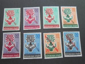 Haiti 1960 Sc B14-7,CB24-7 set MNH
