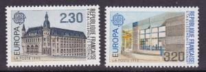 France 1990 Europa Issue Post Offices (2)  VF/NH(**)