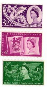 GREAT BRITIAN 338-340 MH SCV $3.45 BIN $1.15 DRAGONS