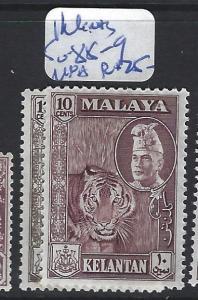 MALAYA  KELANTAN    (P3007BB)  TIGER 10C   SG 88-9   MNH