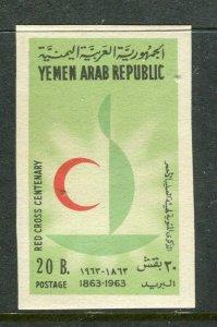 YEMEN;  1963 Red Cross Anniversary issue Mint MNH 20b. IMPERF VARIETY value