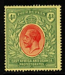 KENYA, UGANDA & TANGANYIKA SG56 1912 4r RED & GREEN/YELLOW MTD MINT