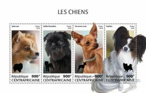 HERRICKSTAMP NEW ISSUES CENTRAL AFRICA Dogs Sheetlet