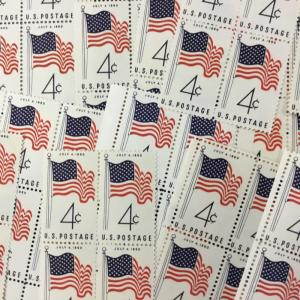 {BJ Stamps} US  1153    50 Star Flag.   MNH 100 4 cent single stamps.   In 1960.