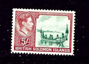Solomon Is 78 MNH 1939 People in canoe