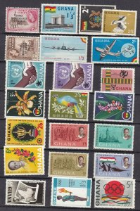 GHANA ^^^^^^x22  older  mostly   MNH  collection  GOOD CAT  @@dc681ghana