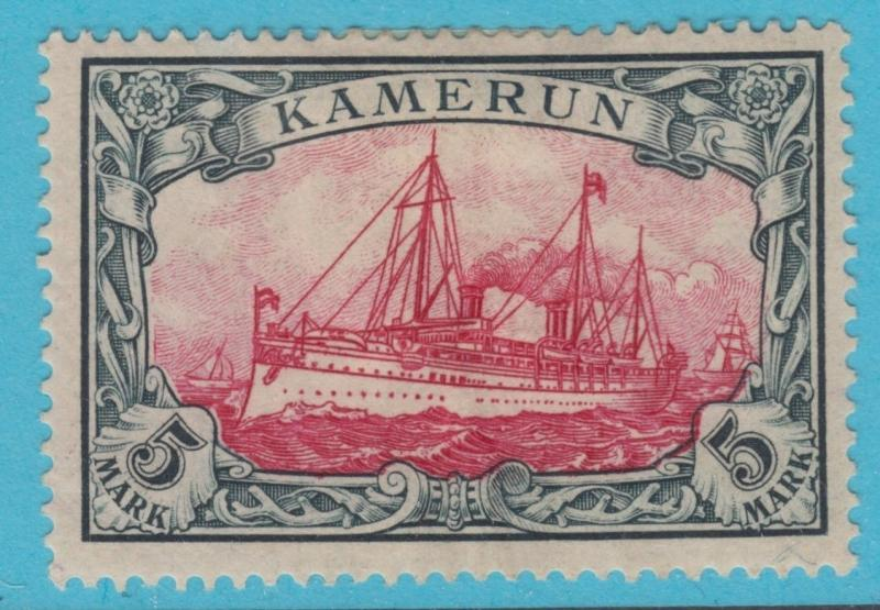 GERMAN COLONIES CAMEROUN 19 MINT HINGED OG *  SMALL THIN HEAVY HINGED LOW PRICE