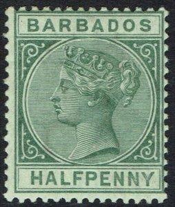 BARBADOS 1882 QV 1/2D