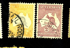 AUSTRALIA #122 125 126 USED FVF Cat $41
