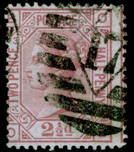 SG139, 2½d rosy mauve plate 3, USED. Cat £175. WMK ANCHOR.