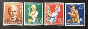 Germany  1958 #B362-5, MNH, CV $7.20