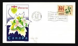 Canada SC# 418 FDC / Chickering Jackson Cachet - L3205