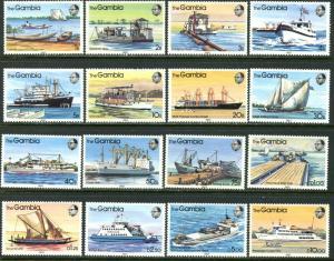 GAMBIA Sc#465-480 SG494-509 1983 River Boats Complete Set OG Mint LH