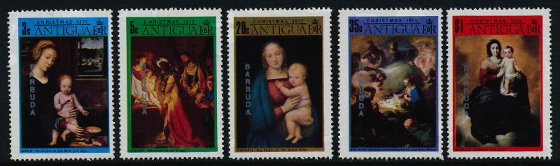 Barbuda 130-4 MNH Christmas, Art, Paintings