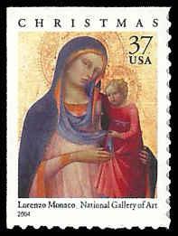 PCBstamps     US #3879 Bk Sgl 37c Christmas-Madonna & Child, 2004, MNH, (6)