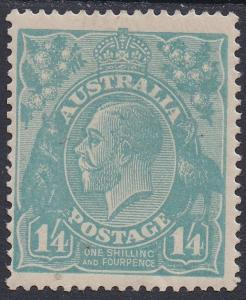 AUSTRALIA 1918 KGV 1/4 SINGLE WMK