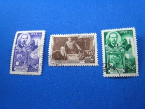 RUSSIA 1949  -  SCOTT # 1352-1354  Used
