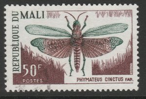 MALI Insect Orthoptera Grasshopper 50f used A16P1F6