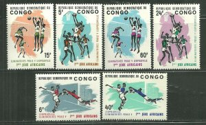 Congo MNH 528-33 1st African Games 1965