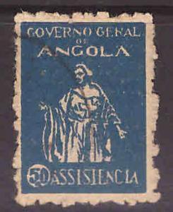 Angola  Scott RA-4 Postal Tax stamp