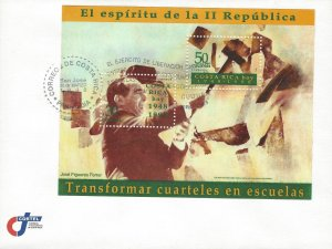 Cost Rica 2nd Republic 50th Anniversary, Pres José Figueres Sc 506a FDC 1998