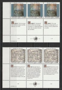 1990 UN-Geneva - Sc 193-4 - MNH VF - PB LL - Human Rights