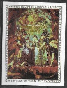 1978    CHAD  -  SG.  MS 545  -  PETER PAUL RUBENS  -  MNH